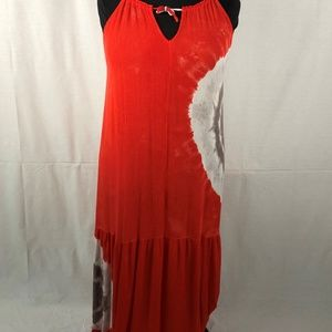 Cato Woman 18W 20W Maxi Dress Knot Side Orange